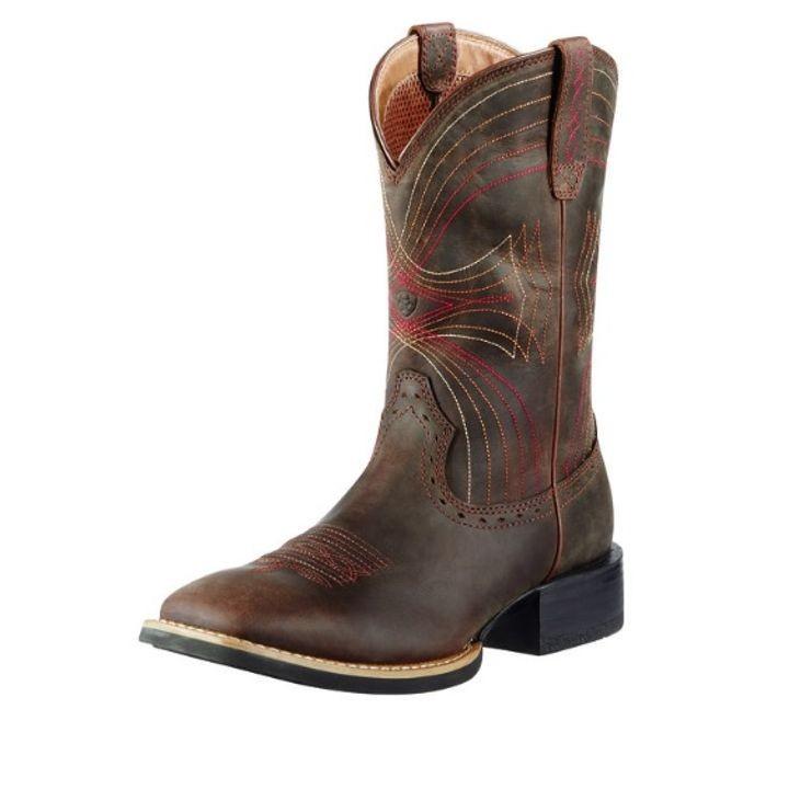 9698fe06132 Men's Sport Wide Square Toe Cowboy Boot