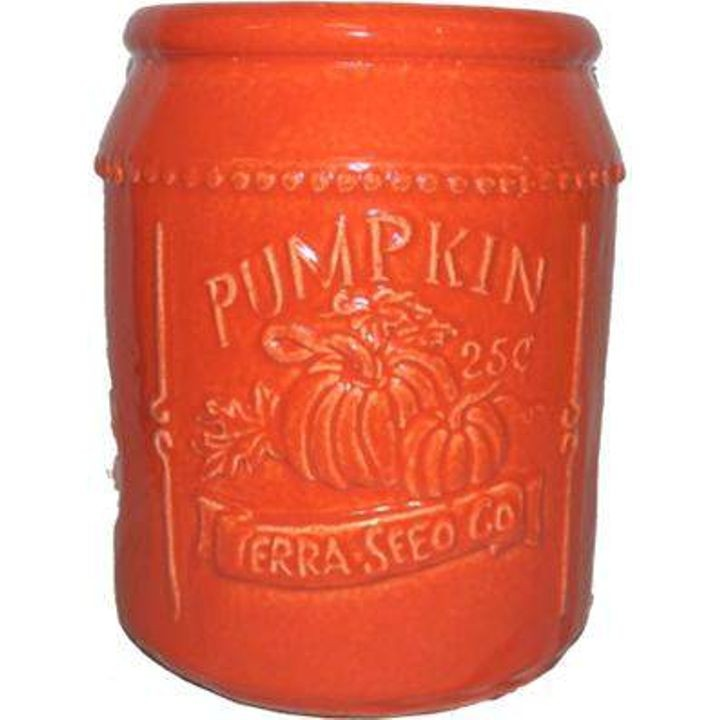 Pumpkin Seed Packet Ceramic Planter