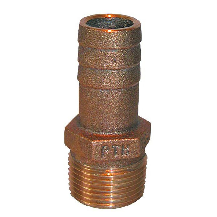 "1/2"" NPT x 1/2"" or 5/8"" ID Bronze Pipe to Hose Straight Fitting"