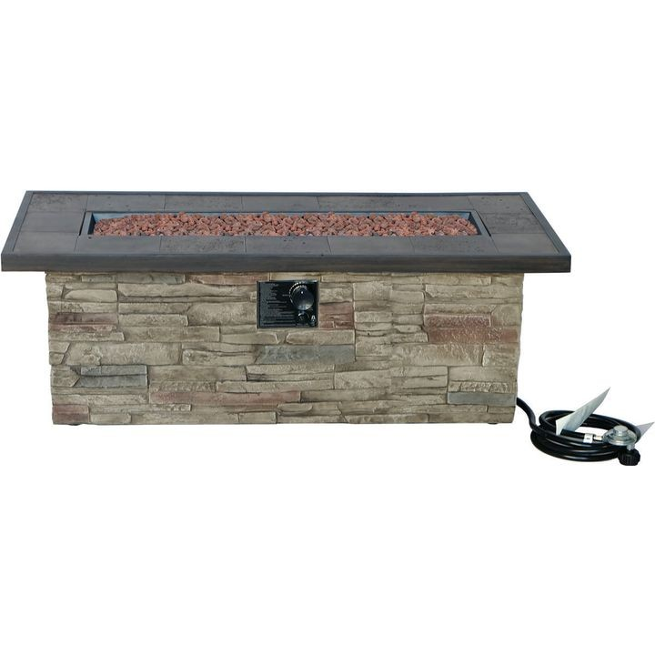 Seasonal Trends 50166 Monterey Fire Patio Table 48 In Theisen S Home Auto