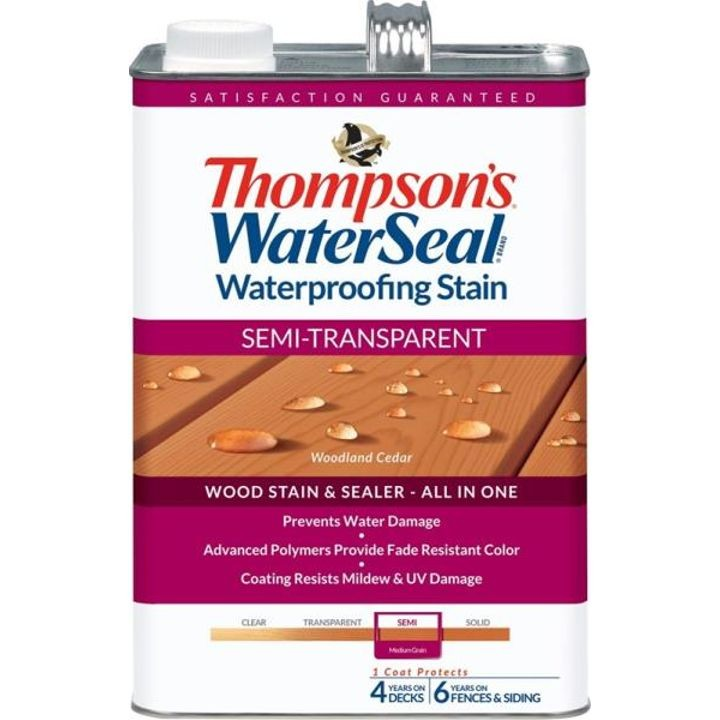1 Gallon Thompsons Woodland Cedar Semi-Transparent Waterproofing Stain