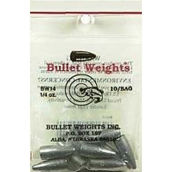 1/4 oz Permacolor Fishing Worm Weights - 10 ct