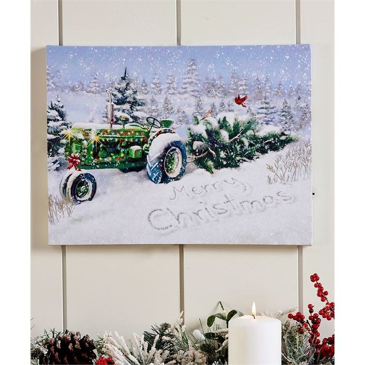 Led Lighted Canvas Print Wall Dcor Tractor Theisens Home Auto