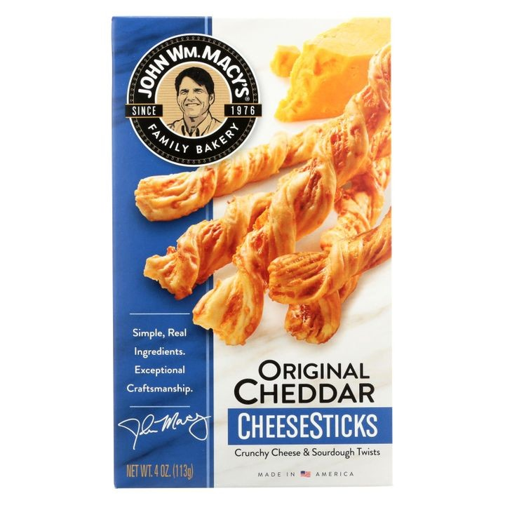 - Cheese Sticks - Original Cheddar - Case Of 12 - 4 Oz.