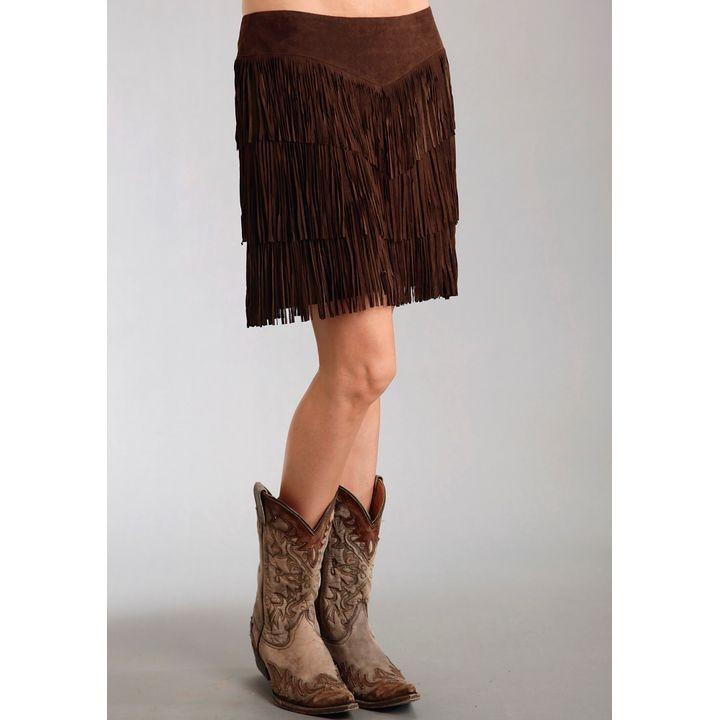 c75914ce42 Ladies Pig Suede Fringe Skirt Skirt   Theisen's Home & Auto