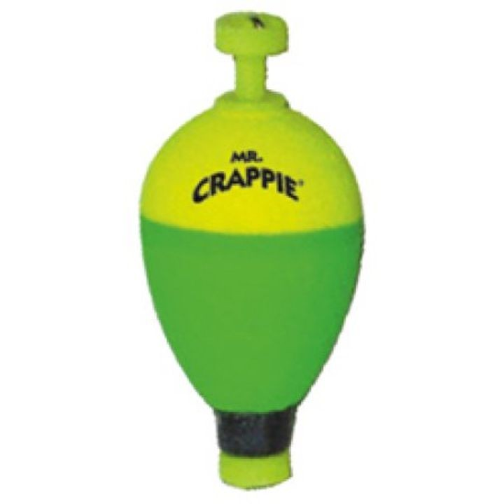 "1 1/2"" Yellow/Green Snap-On Float – Pear"