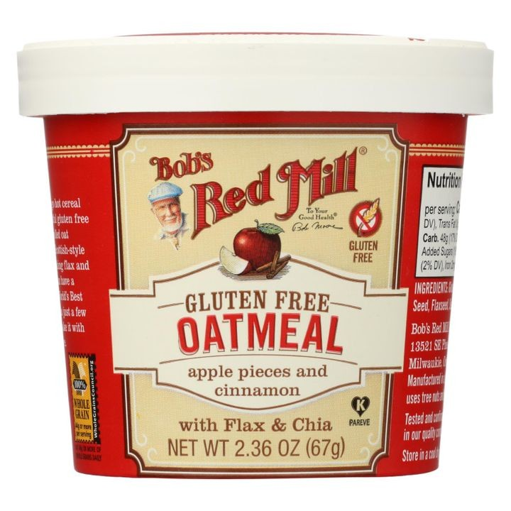 - Gluten Free Oatmeal Cup Apple And Cinnamon - 2.36 Oz - Case Of 12