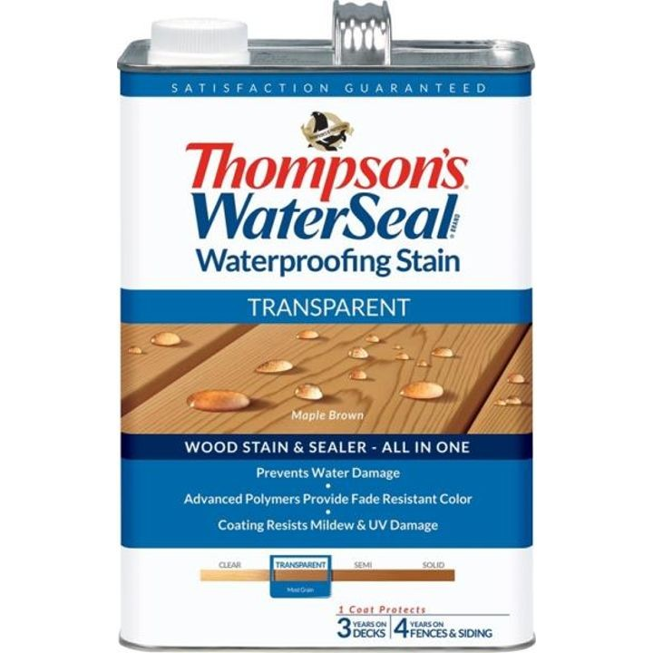 1 Gallon Thompsons Maple Brown Transparent Waterproofing Stain