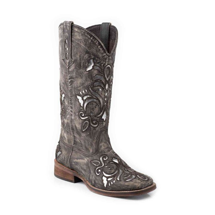 "Ladies' Western 12"" Square Toe Leather Boot"
