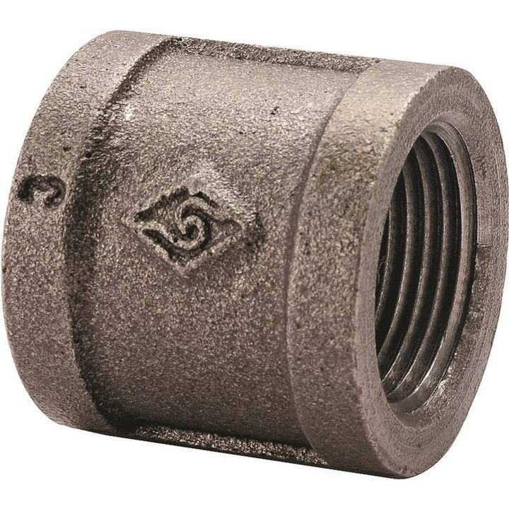 "1/2"" Threaded Black Oxide Pipe Coupling"
