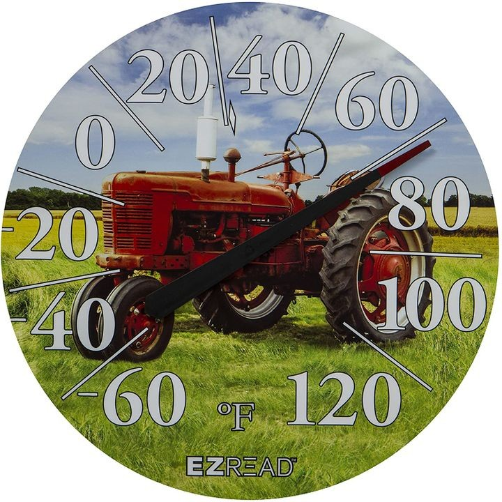 "12.5"" Red Tractor EZREAD Dial Thermometer"