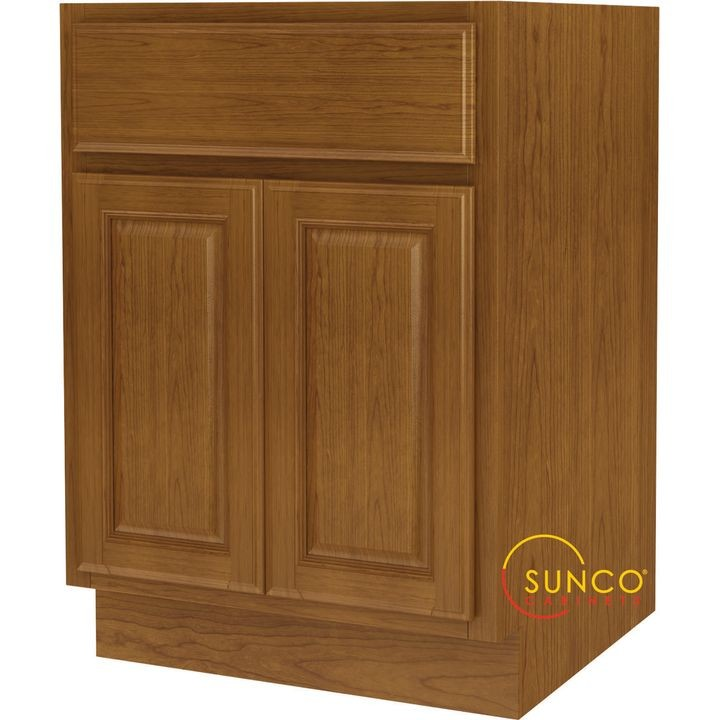 B24rt B Double Door Wide Base Kitchen Cabinet With Drawer 24 In W X