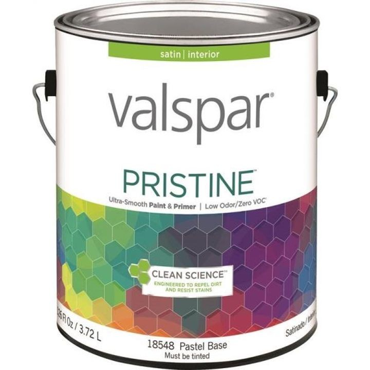 1 Gallon Stain Pastel Base Pristine Latex Paint & Primer