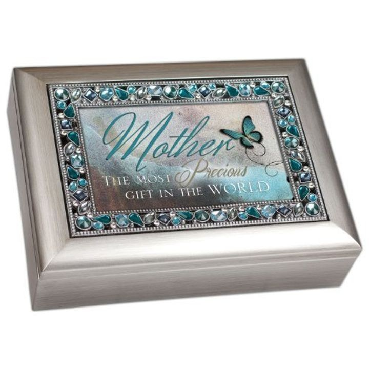 """Mother the Most Precious Gift in the World"" Musical Music Jewelry Box"