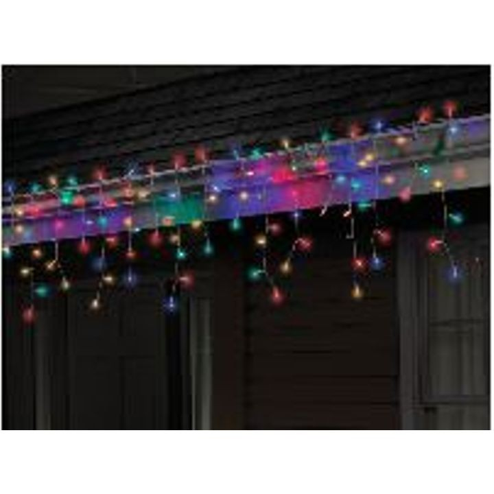100 ct Multicolored LED Icicle Mini Light Set Multicolored - 6'