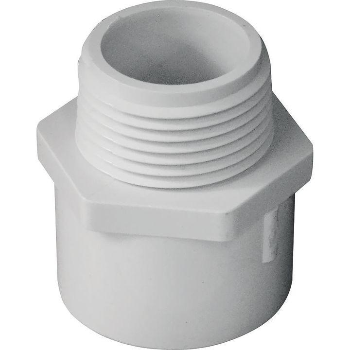 Solvent weld pipe adapter in slip mip sch pvc