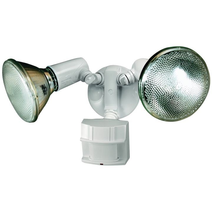 Hz 5411 Wh Motion Activated Security Light Halogen Lamp