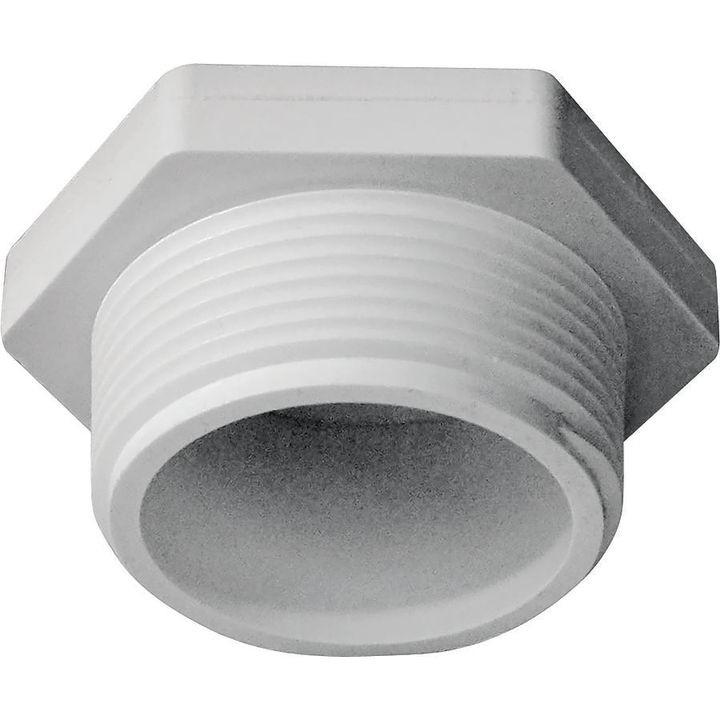 Solvent weld pipe plug in mip sch pvc