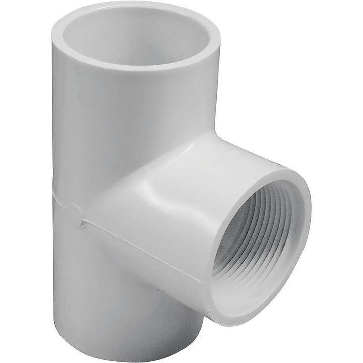 Solvent weld pipe tee in slip fip sch