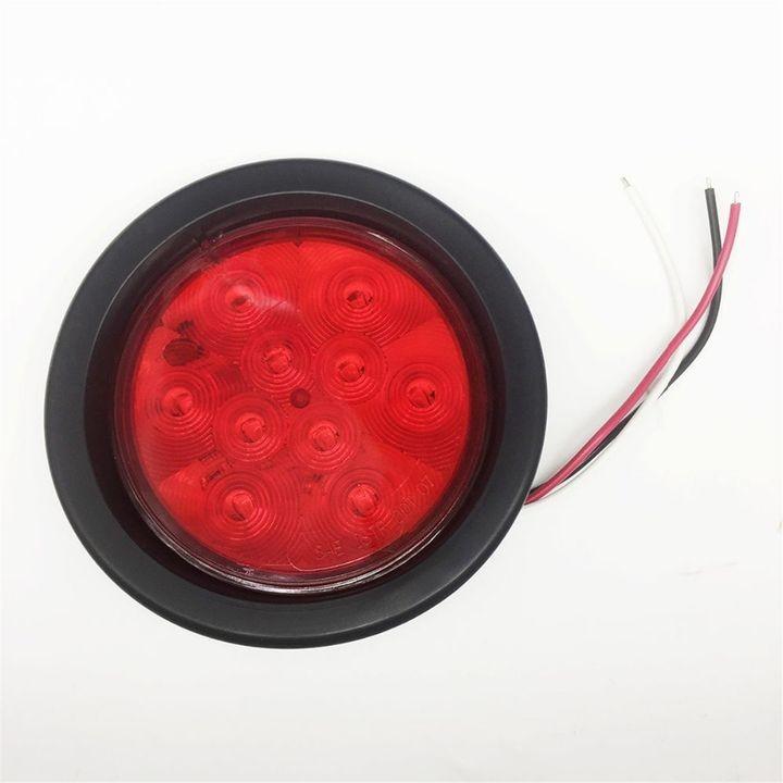 Red Lens 4 U0026quot  Round Sealed Led Tail Light Kit