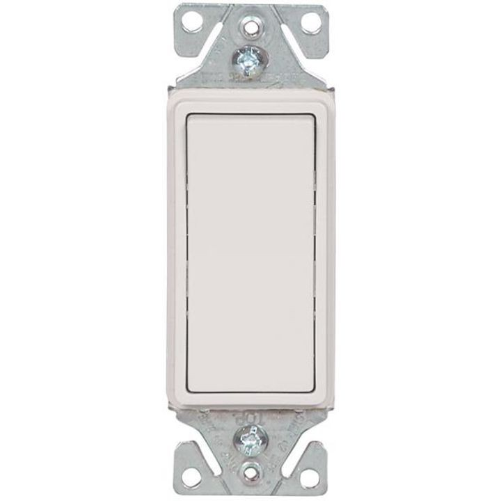 15 A, 120/277 VAC, 3 Way Decorative Standard Rocker Switch ...