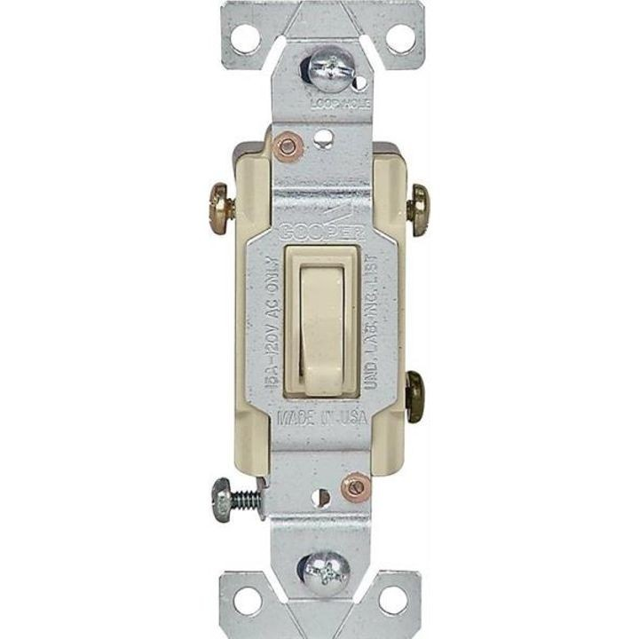 Lighted Grounding Toggle Switch 120 Vac Ivory