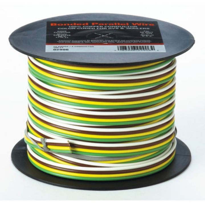 Cable Bonded Trailer Wire  14  4 Gauge X 100 U0026 39  Wire