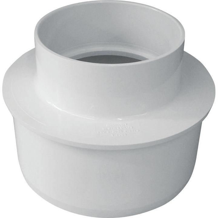 Pipe reducing bushing in sewer spigot hub